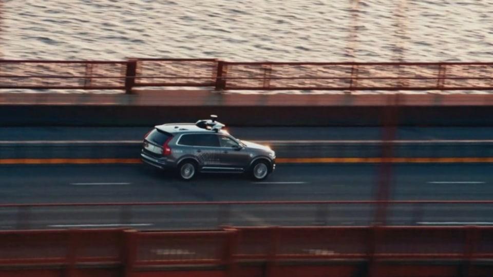 Volvo driverless Uber car