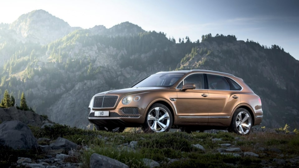 The new Bentayga is the first SUV for the British uber luxury brand.
