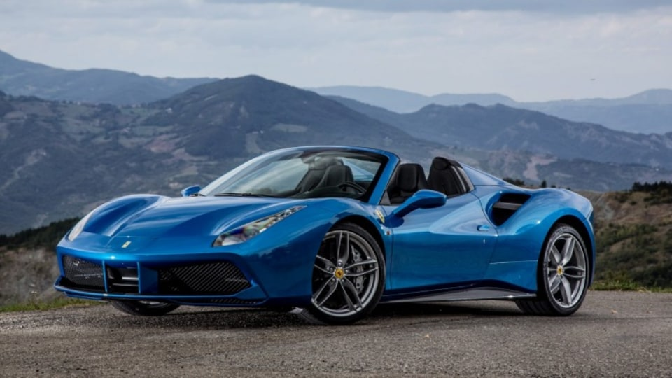 Ferrari 488 Spider is the convertible sibling of the 488 GTB.
