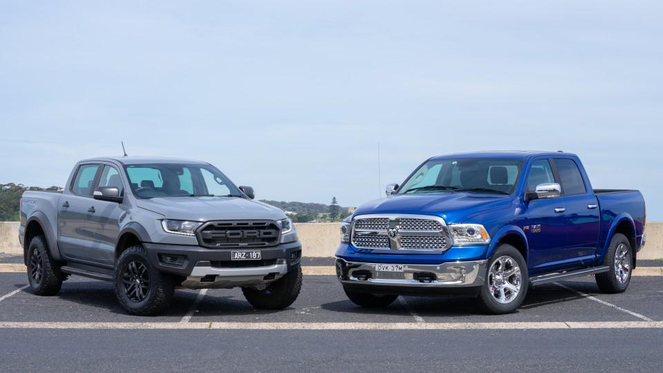 Ram 1500 Laramie v Ford Ranger Raptor comparison review-2