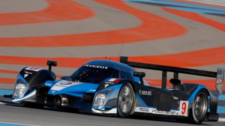 Peugeot's 908 HDi FAP sports racing car, the winner of the 2009 24-hour Le Mans.