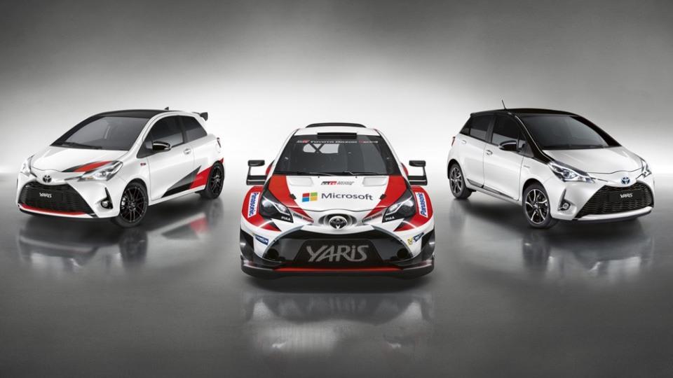 Toyota GRMN Yaris and WRC car