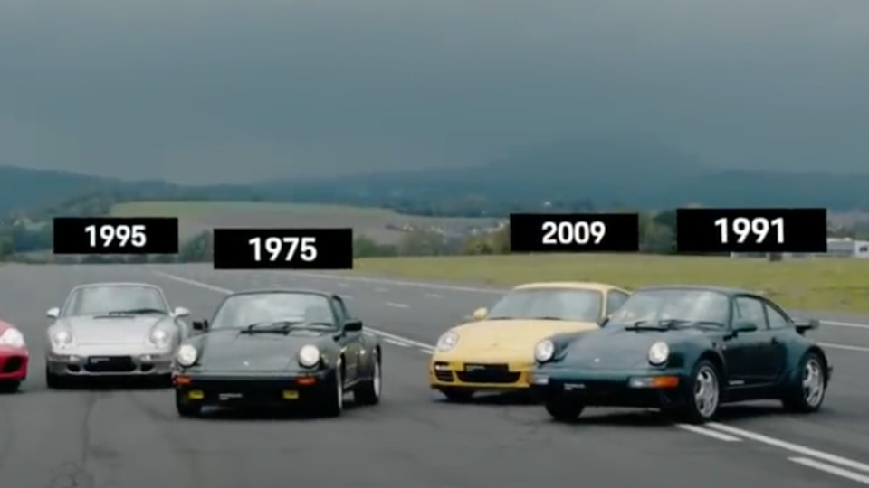 Porsche 911 Turbo drag-race: Watch every generation go head-to-head