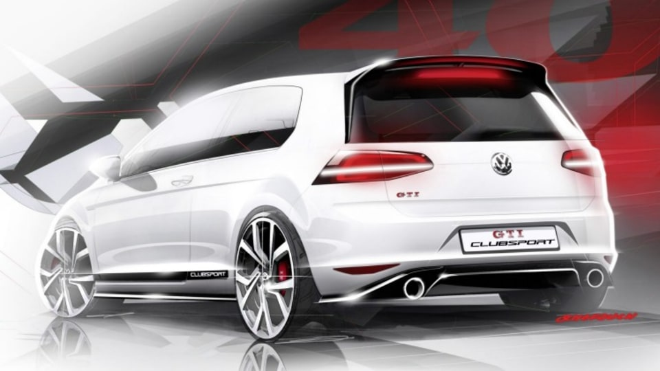 Official sketches reveal a high-powered variant of the German brand's hot hatch to celebrate the 40th birthday of the Golf.