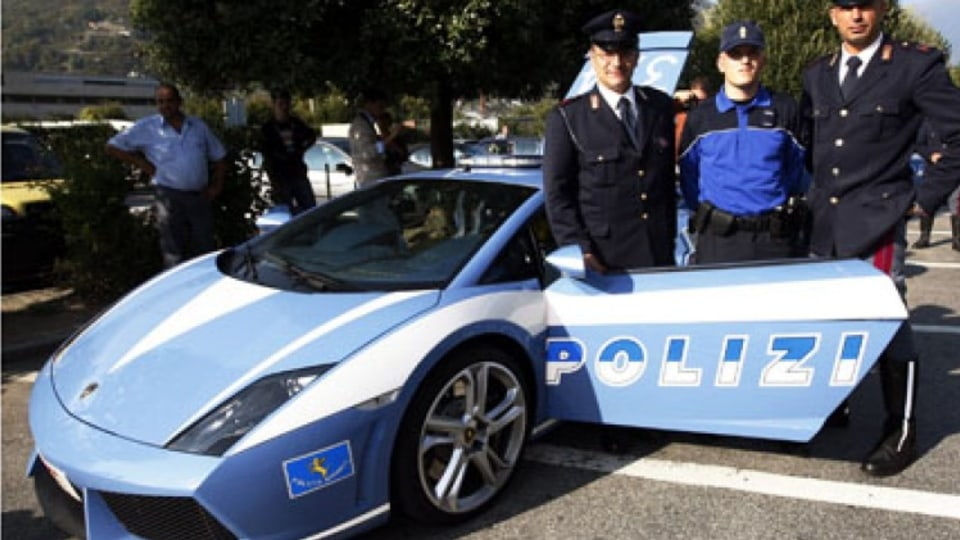 Lamborghini Gallardo, said to be the world's fastest police car.
