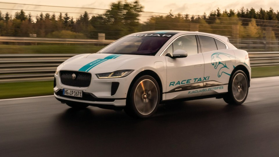 Jaguar reveals I-Pace Race eTaxi for the Nürburgring