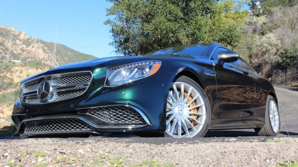 The Mercedes-AMG S65 Coupe blends luxury and performance.