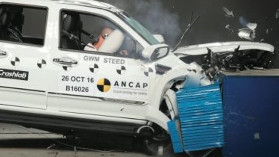 Great Wall ute crashes to earth in ANCAP test