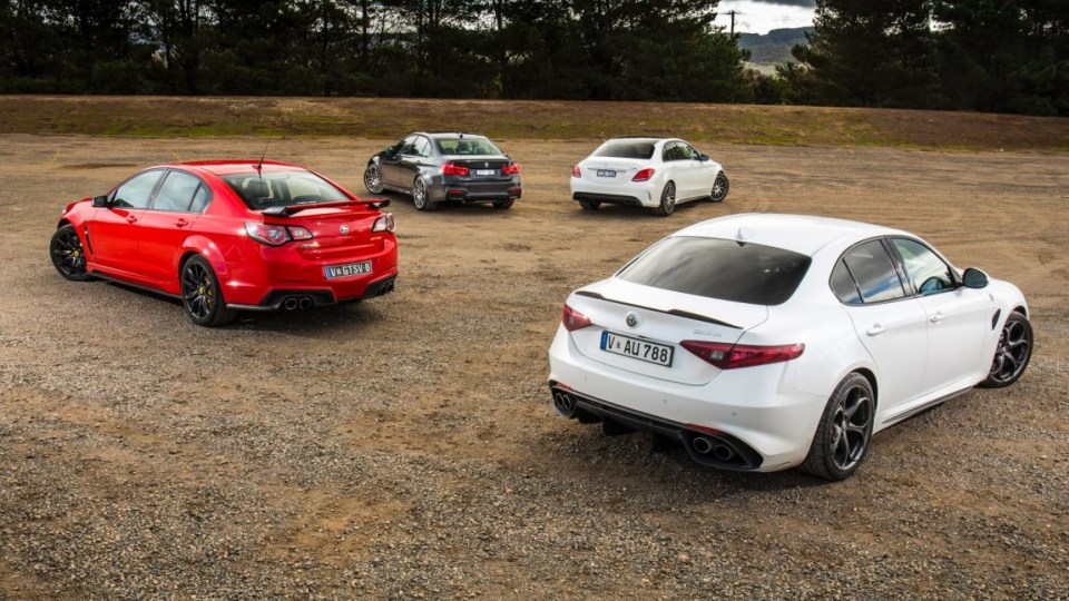 Can the new Alfa Romeo Giulia QV compete with the likes of the Mercedes-AMG C63, BMW M3 and HSV GTS?