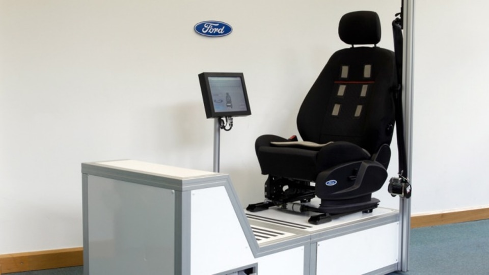 Ford is developing a driver's seat that can monitor your heartbeat.