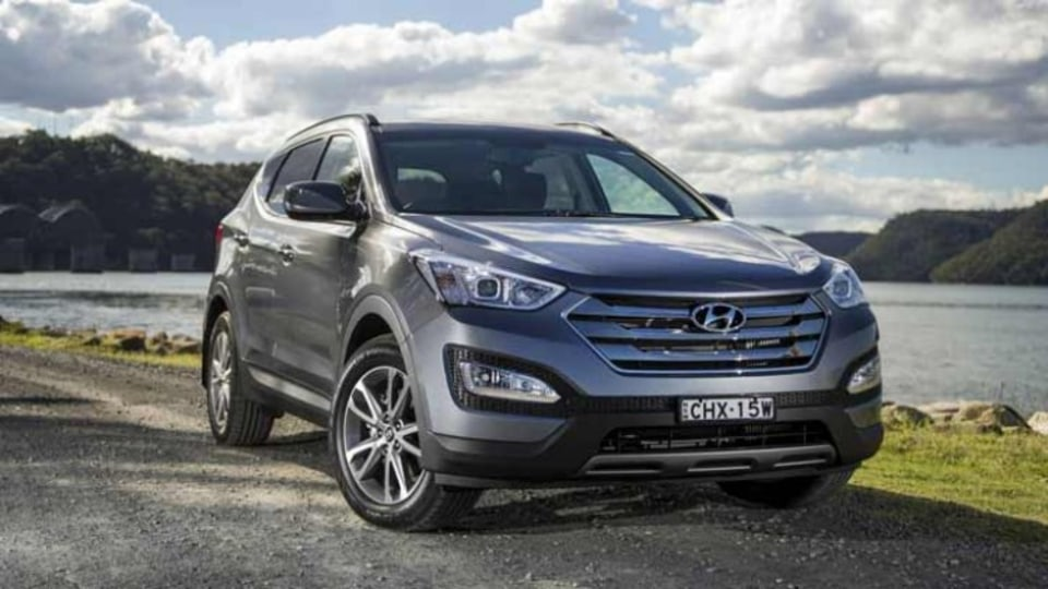 Hyundai's Santa Fe is capable around town and its diesel engine makes it a handy tower, too.