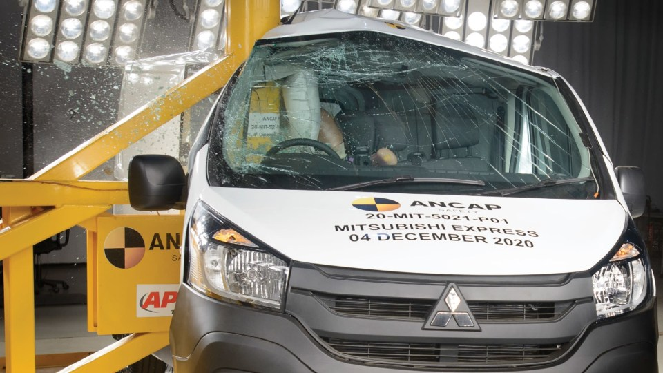 Mitsubishi Express van gets zero stars for safety, lowest score recorded in Australia