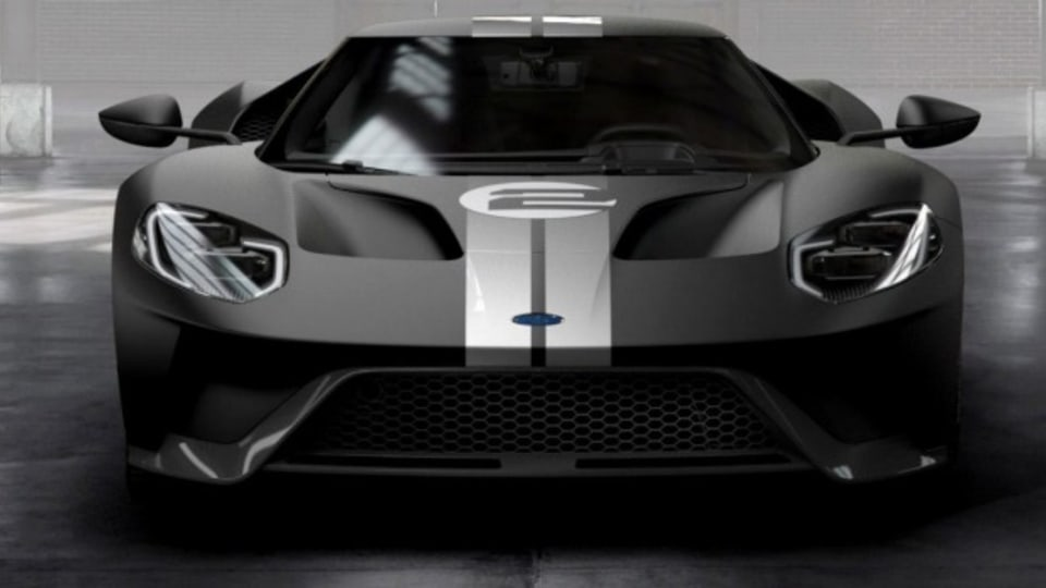 All-new Ford GT '66 Heritage Edition with unique black and silver-stripe livery celebrates 1966 Le Mans-winning GT40 Mark II race car driven by Bruce McLaren and Chris Amon Ford GT '66 Heritage Edition.