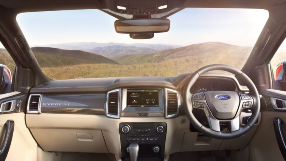 The Everest shares its cabin with the new Ford Ranger.