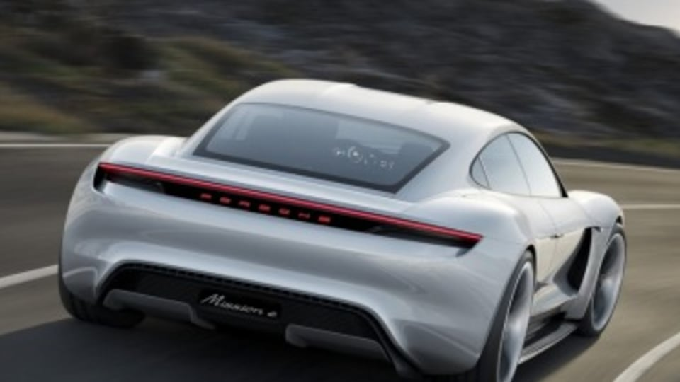 Porsche electric Mission E to out gun Tesla