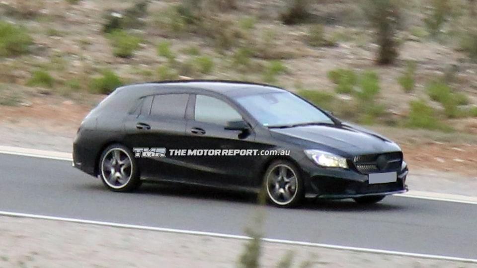 2014 Mercedes-Benz CLA Shooting Brake Spied Testing