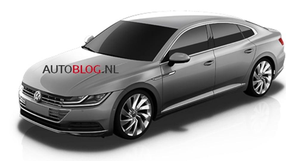 Volkswagen CC Revealed In Leaked Patent Renderings - Or Is It?