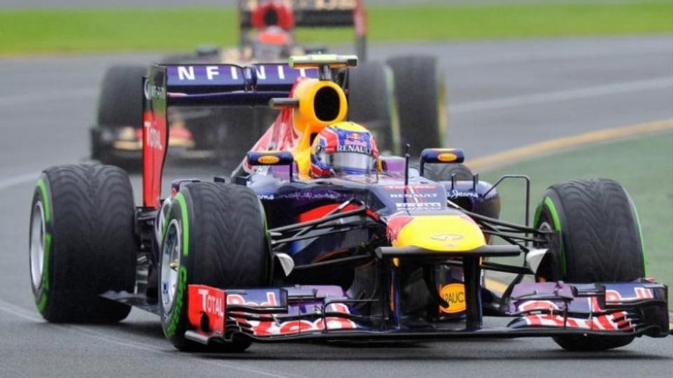 Mark Webber in action at the Australian Grand Prix.