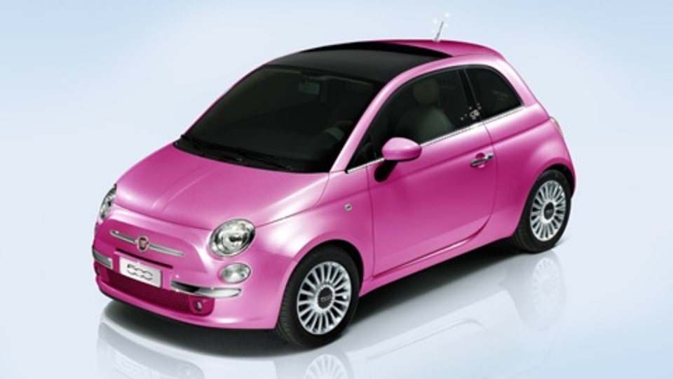 Barbie Turns 50, Scores A Hot Pink Fiat 500