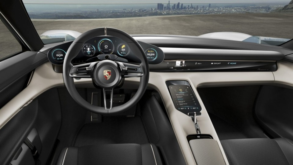Porsche has unveiled its spectacular new 600bhp plus electric-powered Mission E concept car.T