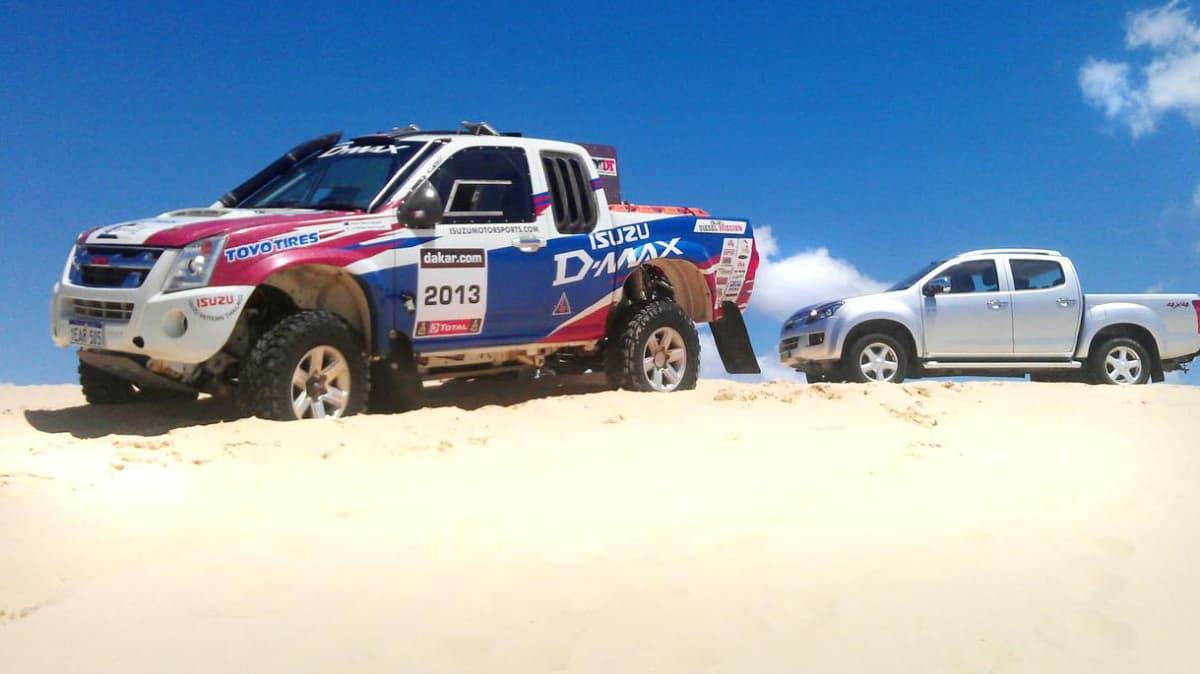 2012 Isuzu D-MAX Dune Test And Isuzu Motorsports Dakar Warmup