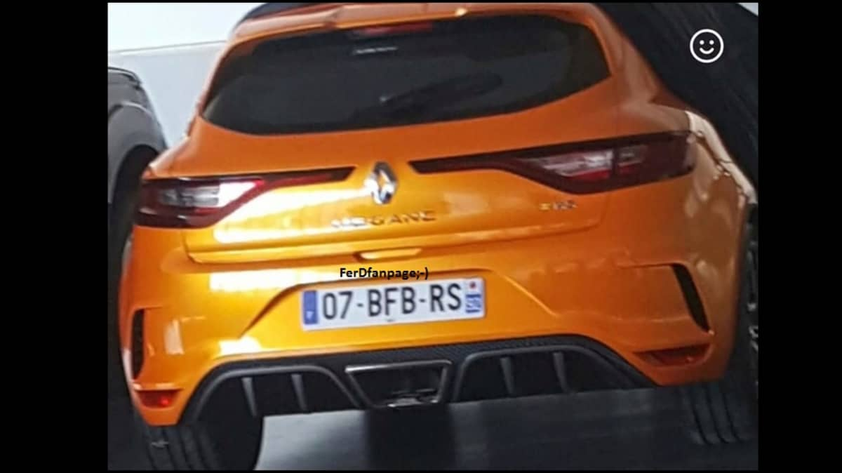 Renault Megane RS Rump Spied