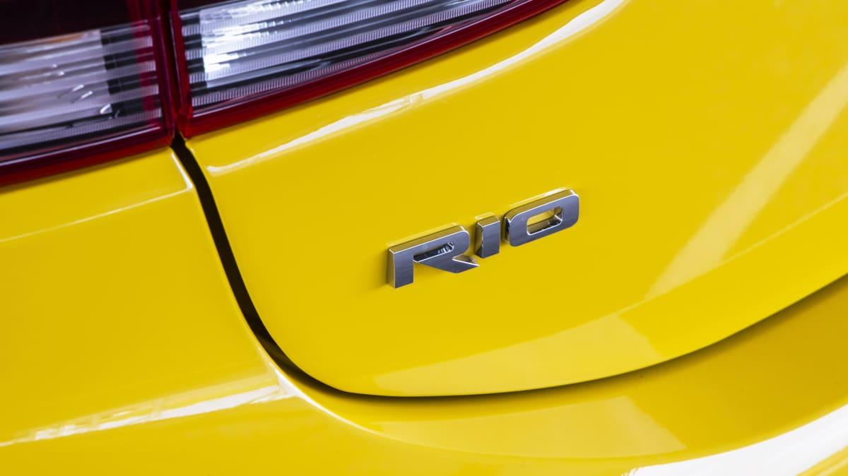 2021 best city car finalist kia rio exterior rear label