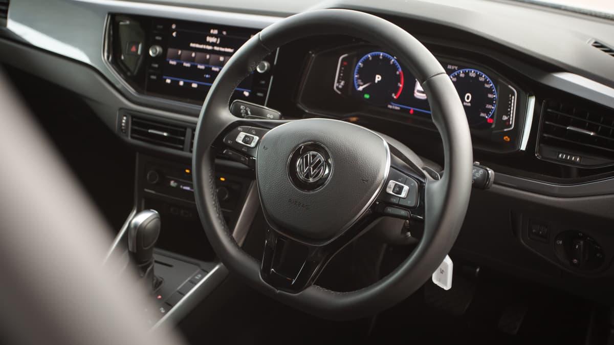 2021 best city car finalist volkswagen polo interior steering wheel
