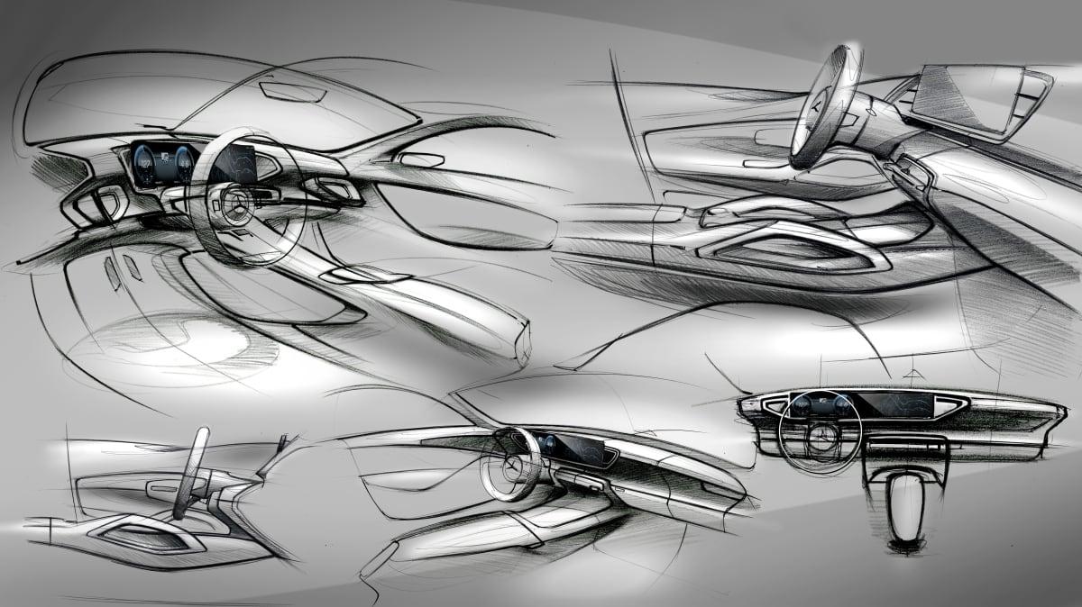 2019 Mercedes-Benz GLE interior sketch