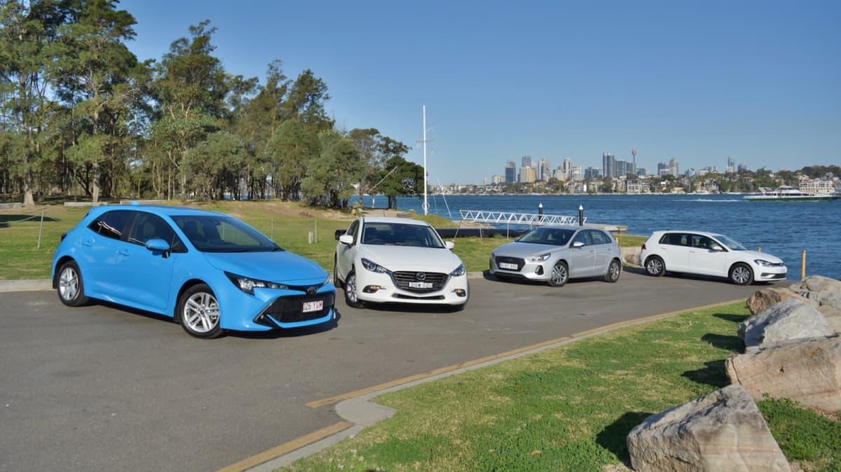 Battle of the hatchbacks: Corolla, Mazda3, i30 and Golf compared-1