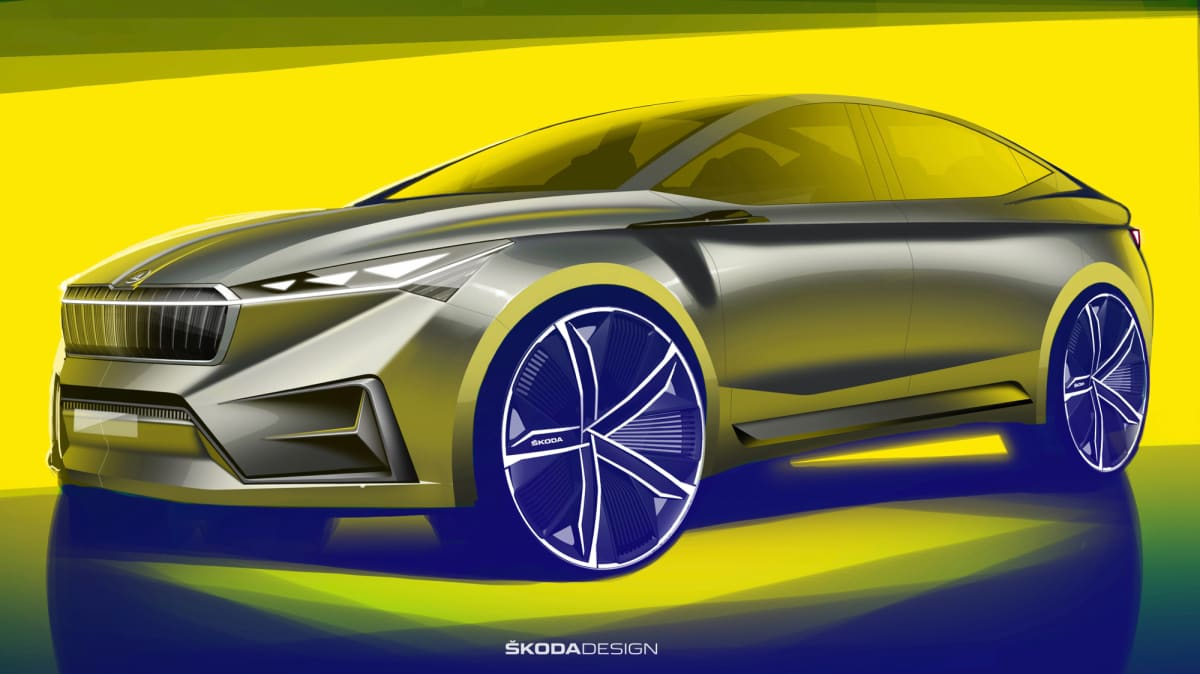Skoda teases electric Vision iV concept