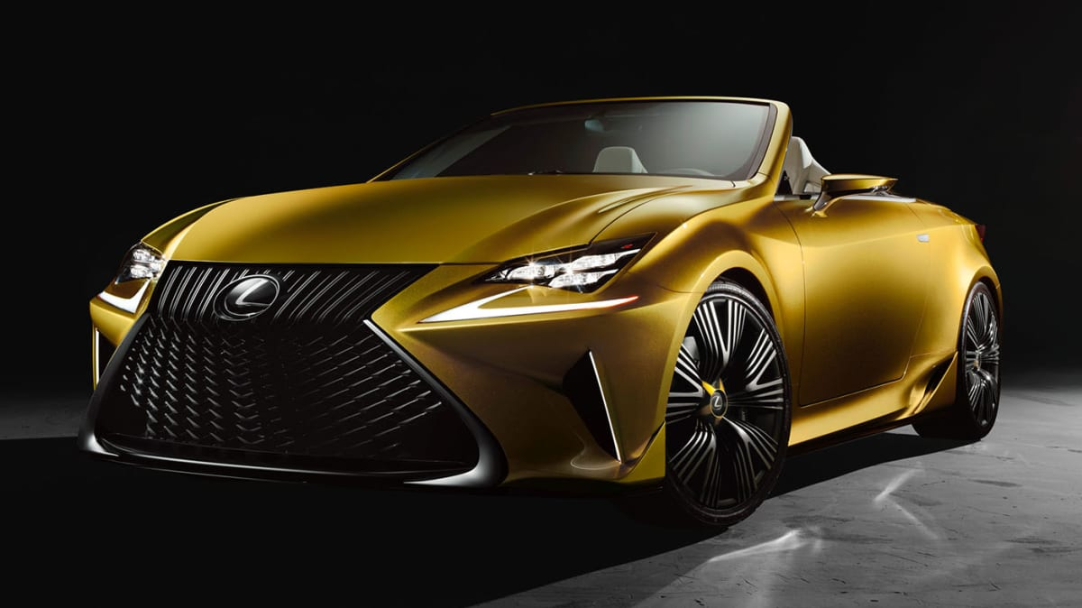 Lexus RC Convertible Previewed As LF-C2 Concept Debuts In LA