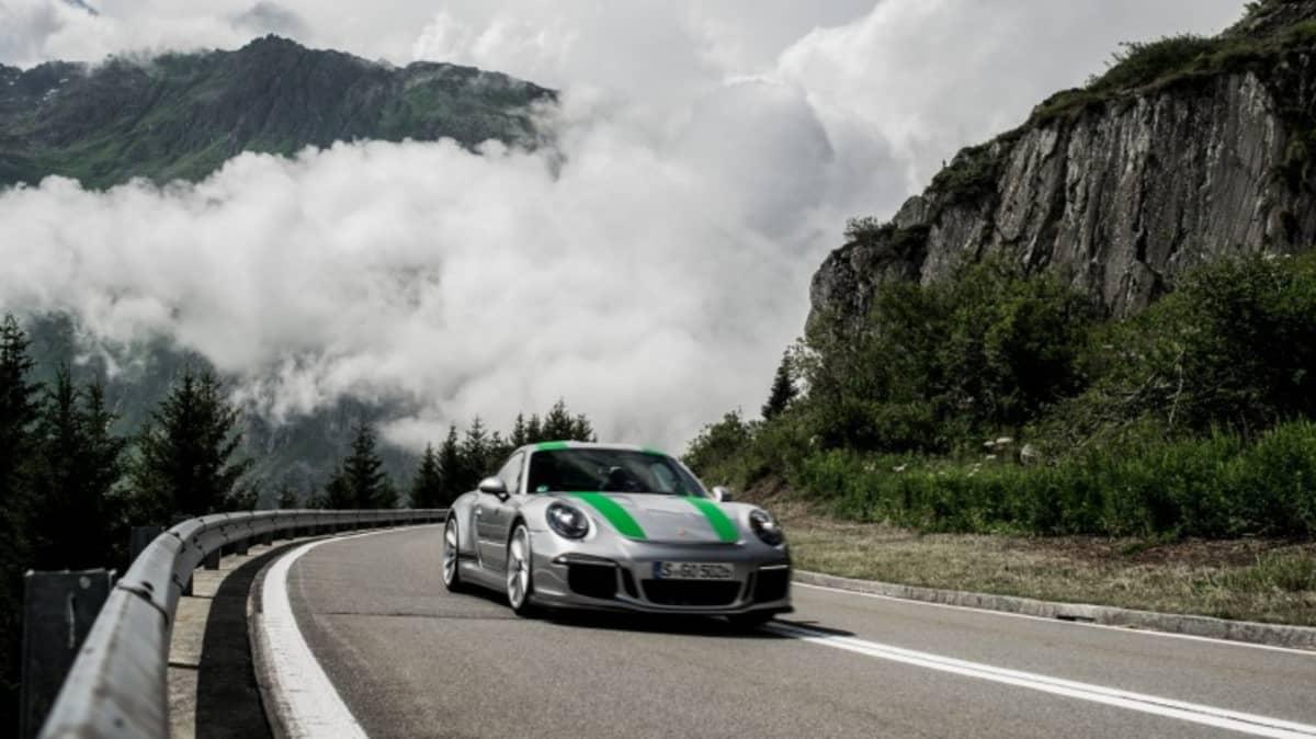 Porsche 911 R across Europe.