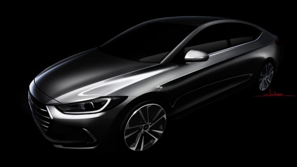 Hyundai's new Elantra shows off its sleek lines.
