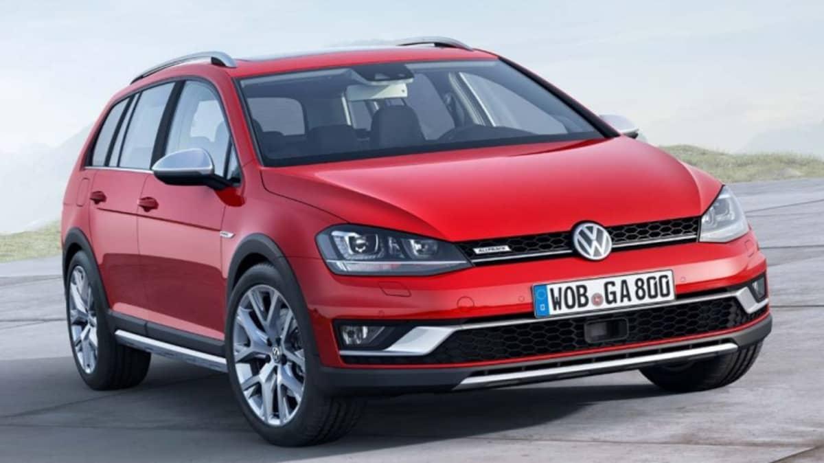 Volkswagen reveal its high-riding Golf Alltrack.