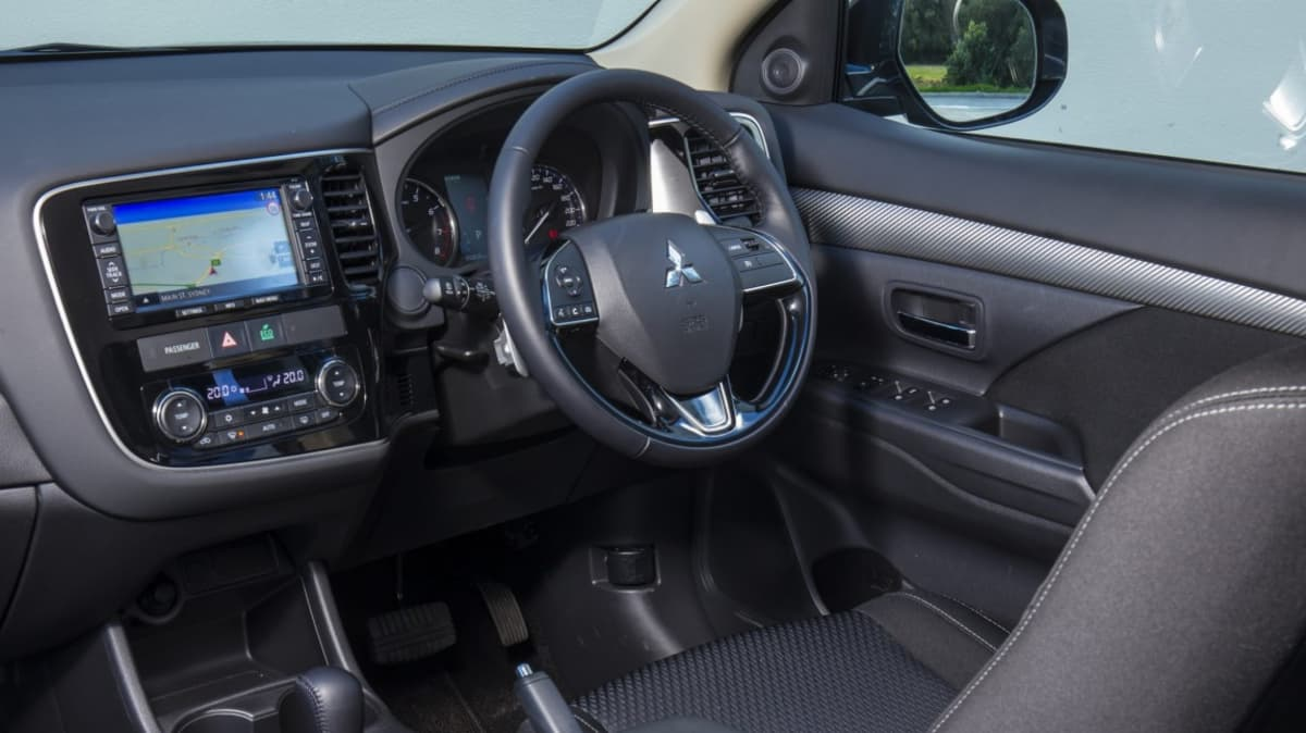 The Outlander is let down by its mis-matched interior.