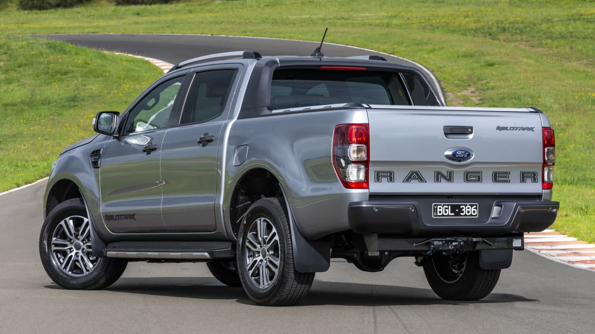 Drive Car of the Year Best Dual Cab Ute 2021 finalist Ford Ranger rear exterior view