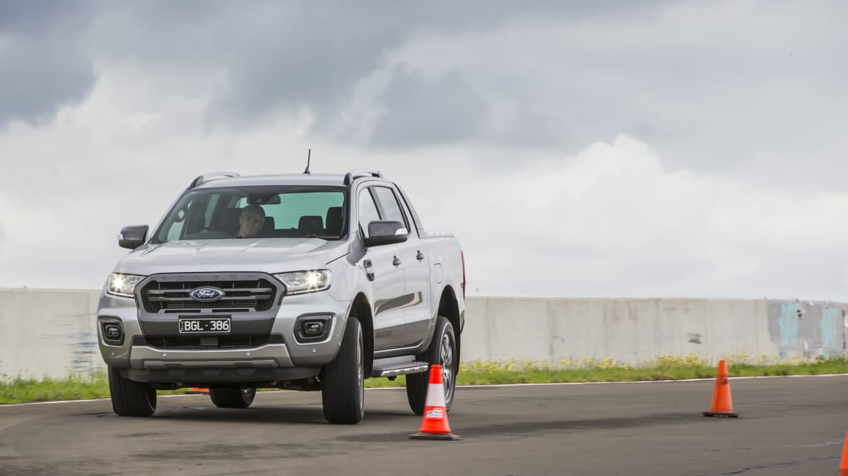 Drive Car of the Year Best Dual Cab Ute 2021 finalist Ford Ranger Wildtrak driven on road circuit