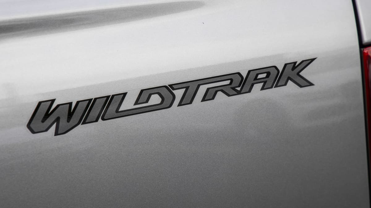 Drive Car of the Year Best Dual Cab Ute 2021 finalist Ford Ranger Wildtrak label close-up