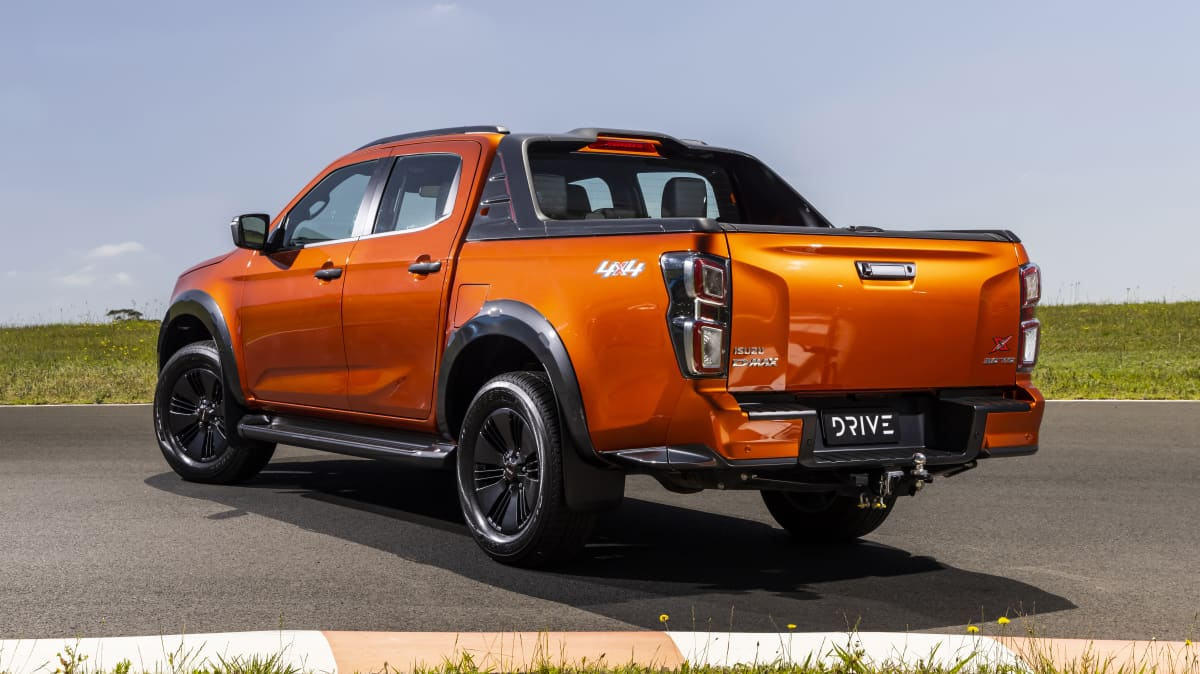 Drive Car of the Year Best Dual Cab Ute 2021 finalist Isuzu D-Max rear exterior view