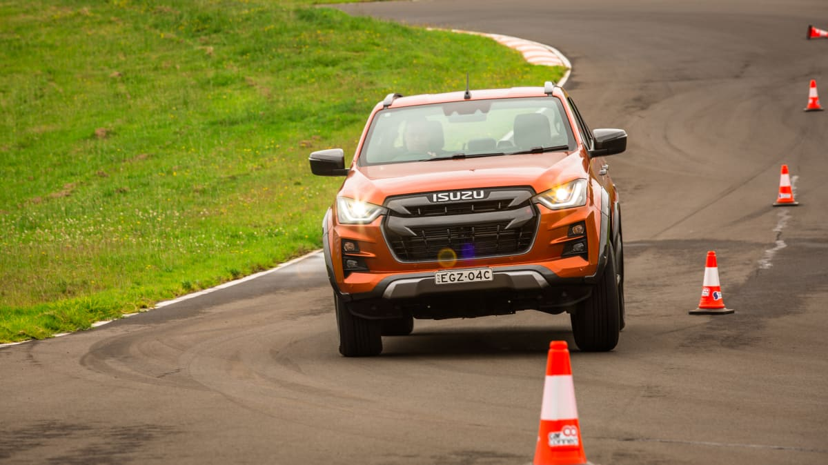 Drive Car of the Year Best Dual Cab Ute 2021 finalist Isuzu D-Max driven on road circuit