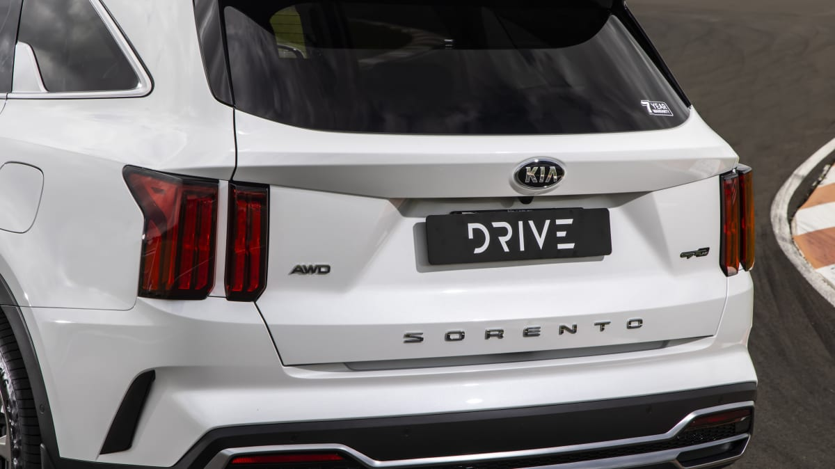 Drive Car of the Year Best Large SUV 2021 finalist Kia Sorento rear exterior close-up