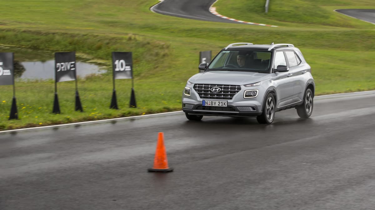 Drive Car of the Year Best Light SUV 2021 finalist Hyundai Venue driven on road circuit