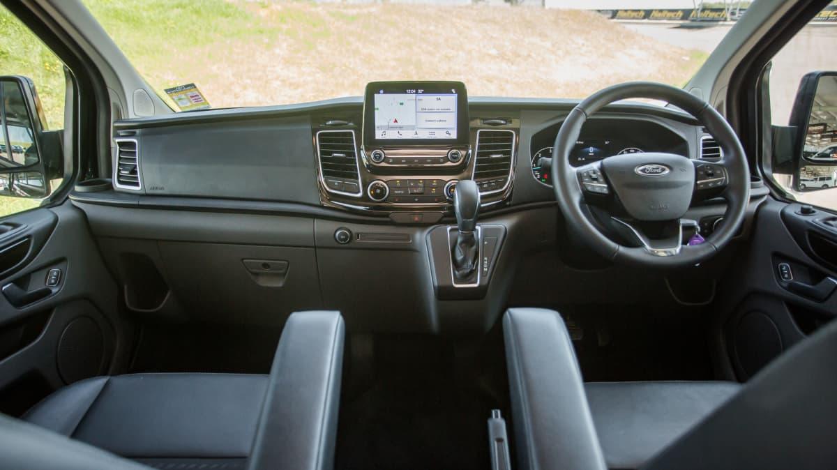 Drive 2021 Best Van finalist Ford Transit front seat view