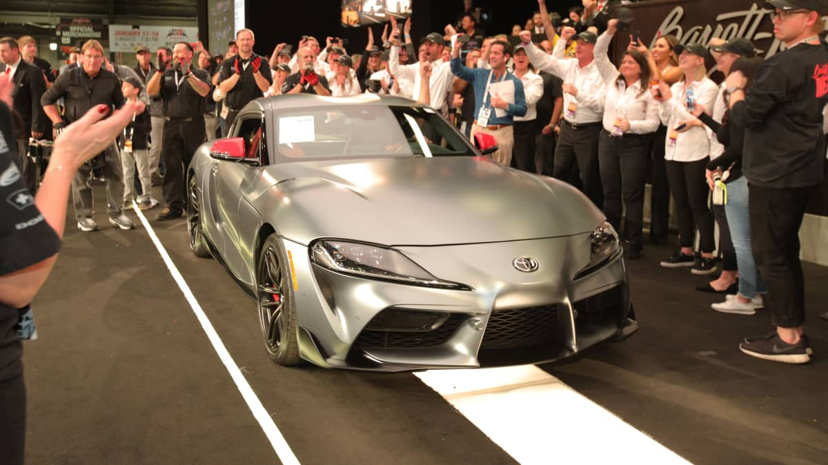 First Toyota Supra sells for $2.9m