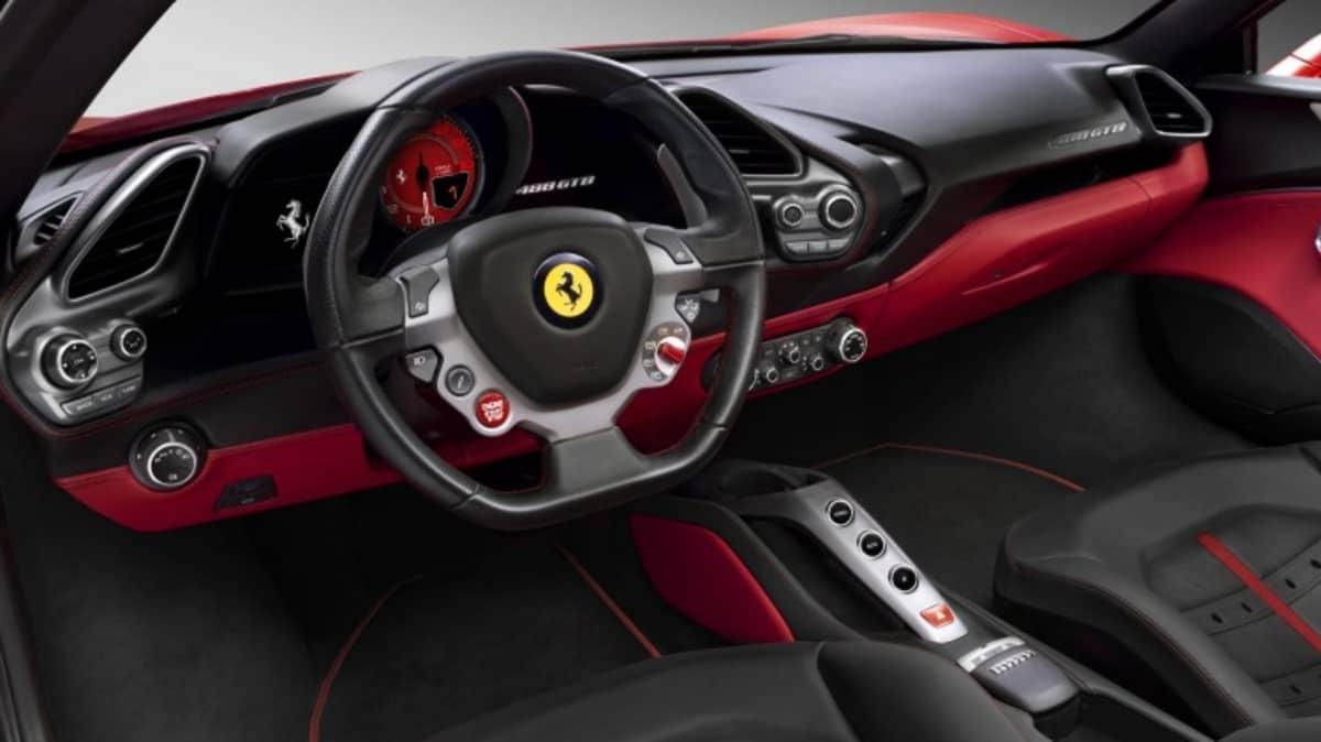 The 488's interior is similar to its predecessor, the 458 Italia.