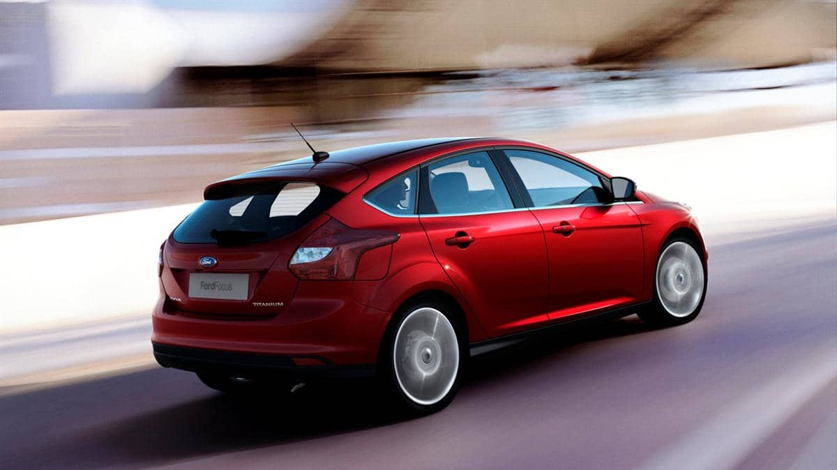 **Embargoed until 12:01 a.m. at Mon., Jan. 11th, 2010** The next-generation Ford Focus 5-door hatchback, revealed at the 2010 North American International Auto Show.
