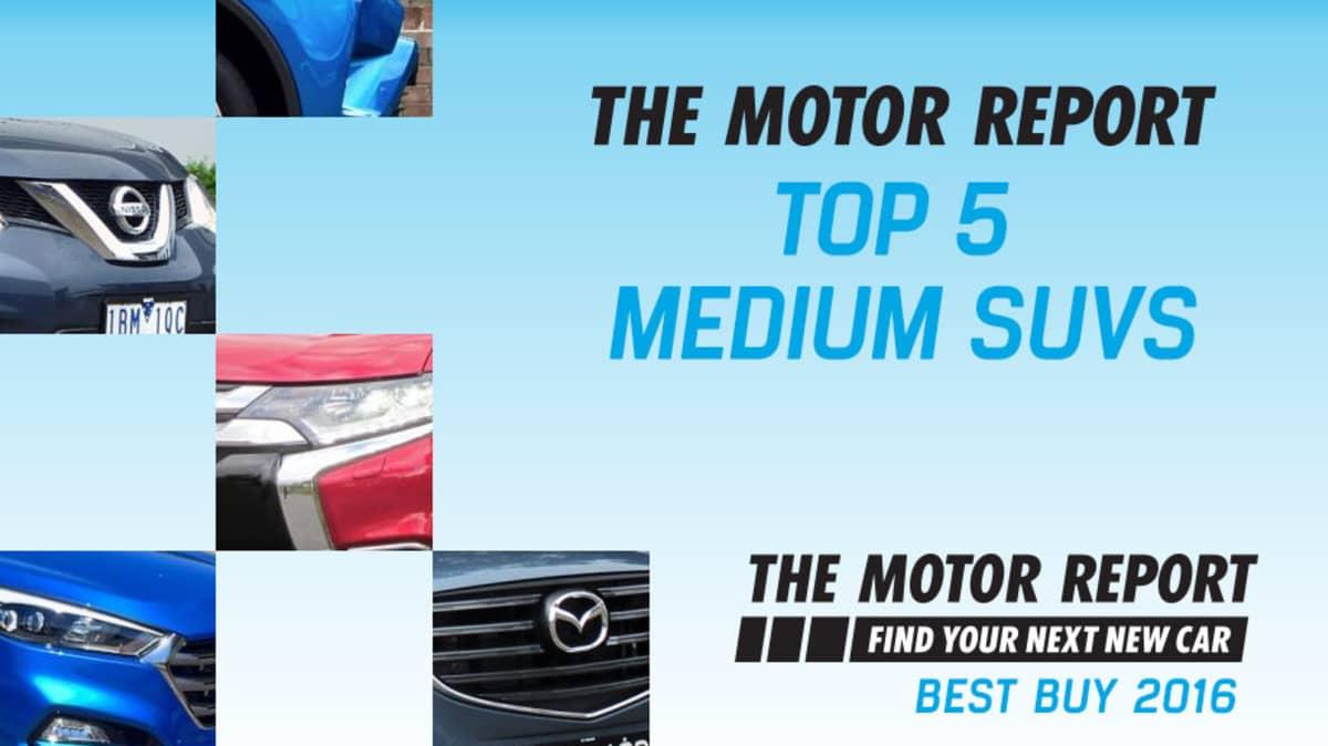 TMR Best Buy 2016 - Top 5 Medium SUVs, Hyundai Tucson, Toyota RAV4, Mitsubishi Outlander, Nissan X-Trail, Mazda CX-5