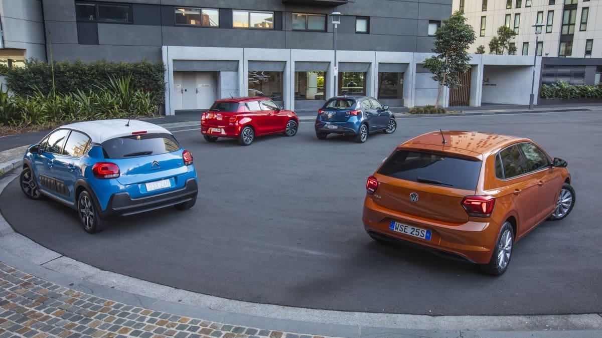 Volkswagen's new Polo takes on the Mazda2, Suzuki Swift Sport and Citroen C3.