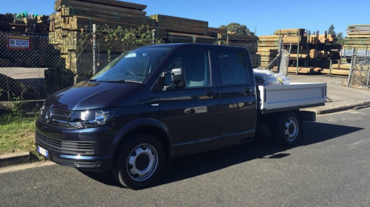 The Volkswagen Transporter TDI400 dual cab chassis.